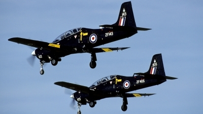 Photo ID 174240 by Joop de Groot. UK Air Force Short Tucano T1, ZF143