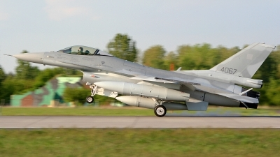Photo ID 21256 by Damian Figaj. Poland Air Force General Dynamics F 16C Fighting Falcon, 4067