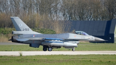 Photo ID 174640 by Peter Boschert. Netherlands Air Force General Dynamics F 16AM Fighting Falcon, J 513