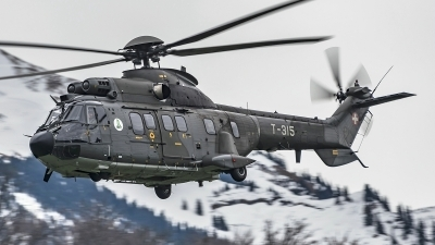 Photo ID 175511 by Martin Thoeni - Powerplanes. Switzerland Air Force Aerospatiale AS 332M1 Super Puma, T 315