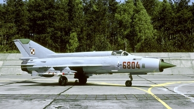 Photo ID 175748 by Marinus Dirk Tabak. Poland Air Force Mikoyan Gurevich MiG 21MF, 6804