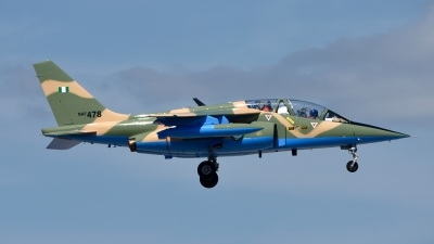 Photo ID 176070 by Mike Hopwood. Nigeria Air Force Dassault Dornier Alpha Jet A, NAF478