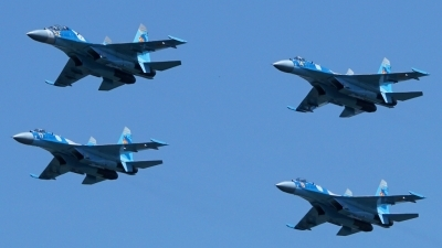Photo ID 176207 by Lukas Kinneswenger. Kazakhstan Air Force Sukhoi Su 27UBM2,