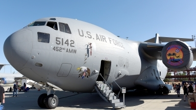 Photo ID 176838 by W.A.Kazior. USA Air Force Boeing C 17A Globemaster III, 05 5142