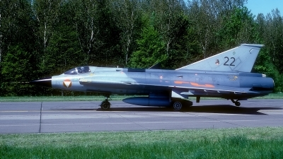 Photo ID 177584 by Rainer Mueller. Austria Air Force Saab J35Oe MkII Draken, 22