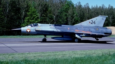Photo ID 177585 by Rainer Mueller. Austria Air Force Saab J35Oe MkII Draken, 24