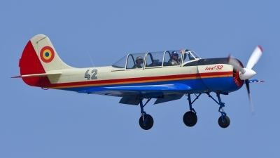 Photo ID 179177 by Peter Terlouw. Romania Air Force Yakovlev Aerostar Iak 52 Yak 52, 42
