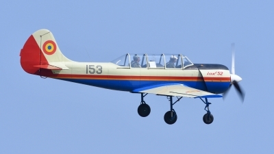 Photo ID 179246 by Peter Terlouw. Romania Air Force Yakovlev Aerostar Iak 52 Yak 52, 153