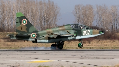 Photo ID 179381 by Robin Coenders / VORTEX-images. Bulgaria Air Force Sukhoi Su 25UBK, 002