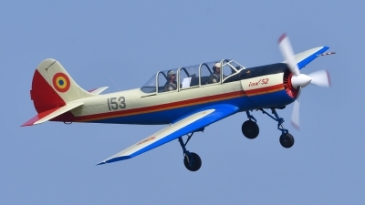 Photo ID 179378 by Peter Terlouw. Romania Air Force Yakovlev Aerostar Iak 52 Yak 52, 153