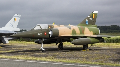 Photo ID 179767 by Ruben Galindo. Belgium Air Force Dassault Mirage 5BA, BA22
