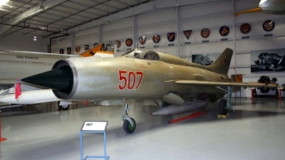 Photo ID 21818 by Ted Miley. Hungary Air Force Mikoyan Gurevich MiG 21PF, 507