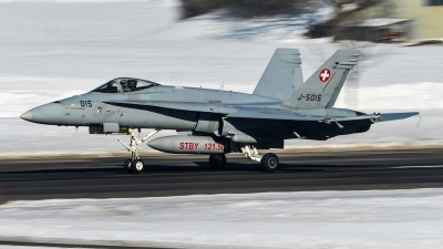 Photo ID 180508 by Luca Fahrni. Switzerland Air Force McDonnell Douglas F A 18C Hornet, J 5015