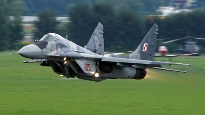 Photo ID 180696 by Lukas Kinneswenger. Poland Air Force Mikoyan Gurevich MiG 29G 9 12A, 105