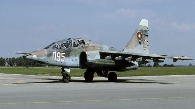 Photo ID 181492 by Joop de Groot. Bulgaria Air Force Sukhoi Su 25UBK, 095