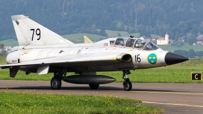 Photo ID 181670 by Walter Van Bel. Private Swedish Air Force Historic Flight Saab Sk35C Draken, SE DXP