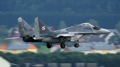 Photo ID 181812 by Lukas Kinneswenger. Poland Air Force Mikoyan Gurevich MiG 29G 9 12A, 105