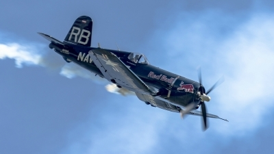 Photo ID 182087 by Martin Thoeni - Powerplanes. Private Red Bull Vought F4U 4 Corsair, OE EAS