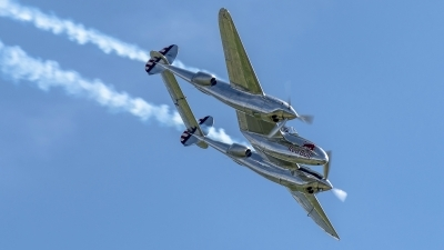 Photo ID 182086 by Martin Thoeni - Powerplanes. Private Red Bull Lockheed P 38L Lightning, N25Y