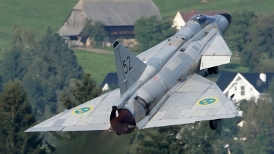 Photo ID 183215 by Lukas Kinneswenger. Private Swedish Air Force Historic Flight Saab AJS37 Viggen, SE DXN