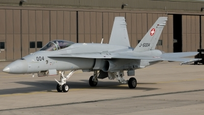 Photo ID 182192 by Klemens Hoevel. Switzerland Air Force McDonnell Douglas F A 18C Hornet, J 5004