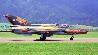 Photo ID 182630 by Sven Zimmermann. Hungary Air Force Mikoyan Gurevich MiG 21UM, 905