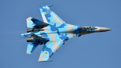 Photo ID 182698 by Radim Spalek. Ukraine Air Force Sukhoi Su 27UB,