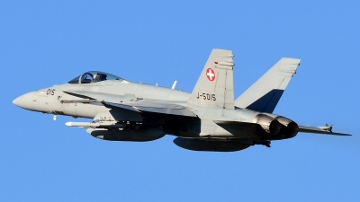 Photo ID 183058 by Sven Zimmermann. Switzerland Air Force McDonnell Douglas F A 18C Hornet, J 5015
