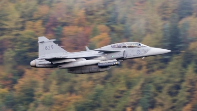 Photo ID 183593 by Paul Massey. Sweden Air Force Saab JAS 39D Gripen, 39829