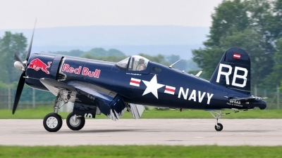 Photo ID 183776 by Frank Deutschland. Private Red Bull Vought F4U 4 Corsair, OE EAS
