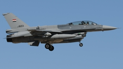 Photo ID 184088 by Hans-Werner Klein. Iraq Air Force General Dynamics F 16D Fighting Falcon, 1603