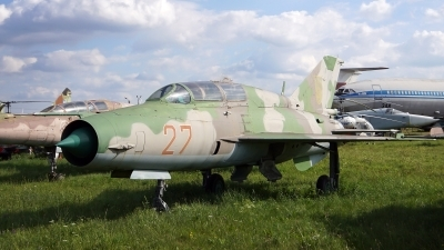 Photo ID 185023 by Lukas Kinneswenger. Ukraine Air Force Mikoyan Gurevich MiG 21UM, 27 RED