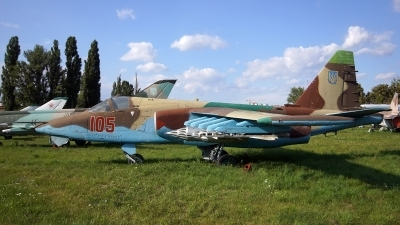 Photo ID 185021 by Lukas Kinneswenger. Ukraine Air Force Sukhoi Su 25, 105 RED