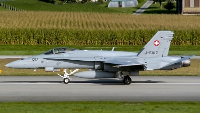 Photo ID 185298 by Sven Zimmermann. Switzerland Air Force McDonnell Douglas F A 18C Hornet, J 5017