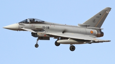 Photo ID 185356 by Ruben Galindo. Spain Air Force Eurofighter C 16 Typhoon EF 2000S, C 16 52