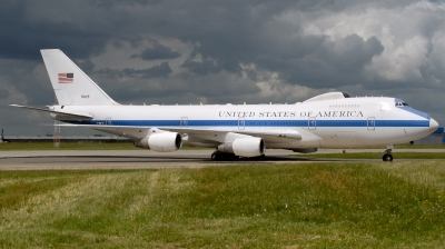 Photo ID 185644 by Hans-Werner Klein. USA Air Force Boeing E 4B 747 200B, 75 0125