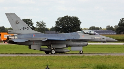 Photo ID 185953 by Richard de Groot. Netherlands Air Force General Dynamics F 16A Fighting Falcon, J 643