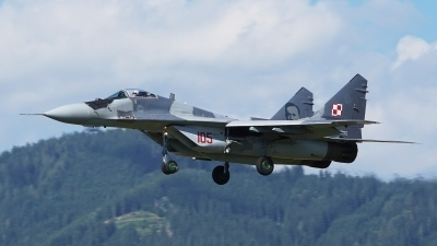 Photo ID 186307 by Lukas Kinneswenger. Poland Air Force Mikoyan Gurevich MiG 29G 9 12A, 105