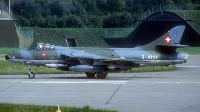 Photo ID 186505 by Rainer Mueller. Switzerland Air Force Hawker Hunter F58A, J 4114
