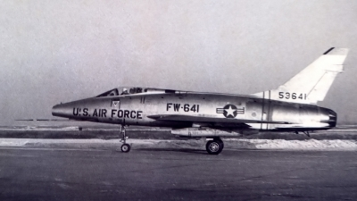 Photo ID 186504 by Robert W. Karlosky. USA Air Force North American F 100D Super Sabre, 55 3641