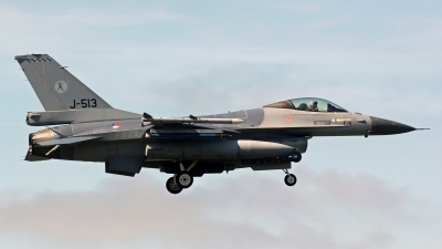 Photo ID 186737 by Richard de Groot. Netherlands Air Force General Dynamics F 16AM Fighting Falcon, J 513