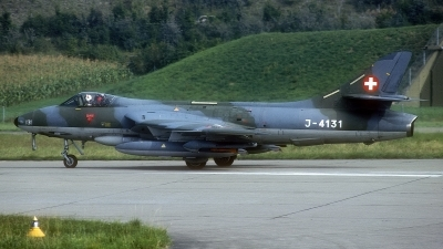 Photo ID 186944 by Rainer Mueller. Switzerland Air Force Hawker Hunter F58A, J 4131