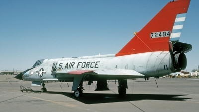 Photo ID 187056 by David F. Brown. USA Air Force Convair QF 106A Delta Dart, 57 2494