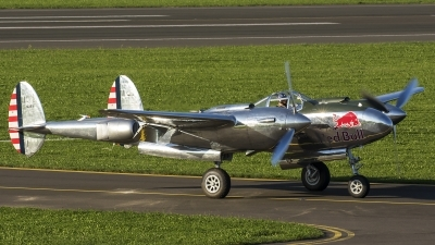 Photo ID 187198 by Thomas Ziegler - Aviation-Media. Private Red Bull Lockheed P 38L Lightning, N25Y