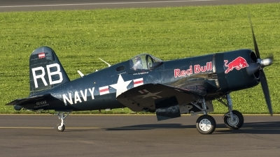 Photo ID 187199 by Thomas Ziegler - Aviation-Media. Private Red Bull Vought F4U 4 Corsair, OE EAS