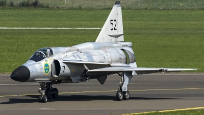 Photo ID 187244 by Thomas Ziegler - Aviation-Media. Private Swedish Air Force Historic Flight Saab AJS37 Viggen, SE DXN
