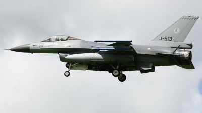 Photo ID 187787 by Arie van Groen. Netherlands Air Force General Dynamics F 16AM Fighting Falcon, J 513