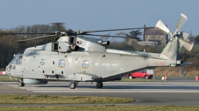 Photo ID 188012 by Mike Griffiths. UK Navy Agusta Westland Merlin HM1 Mk111, ZH827