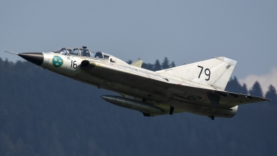 Photo ID 188041 by Thomas Ziegler - Aviation-Media. Private Swedish Air Force Historic Flight Saab Sk35C Draken, SE DXP