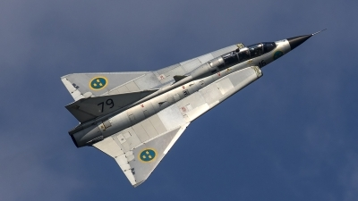 Photo ID 188023 by Thomas Ziegler - Aviation-Media. Private Swedish Air Force Historic Flight Saab Sk35C Draken, SE DXP